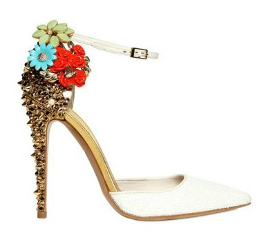 DSQUARED, 110mm Lalique Studs and Flower Pumps