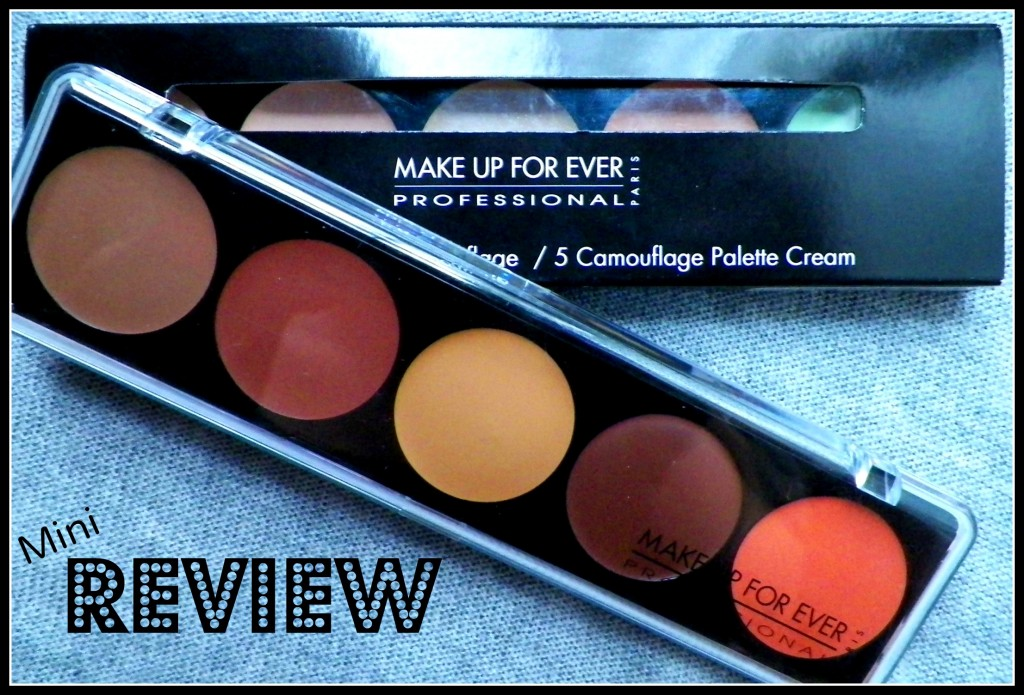 Make Up Forever 5 Camouflage Cream Palette, Thoughts