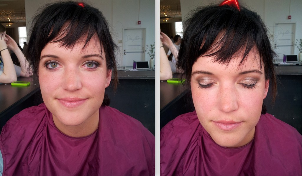 Bridesmaid.  Requested something natural.  Airbrush foundation.