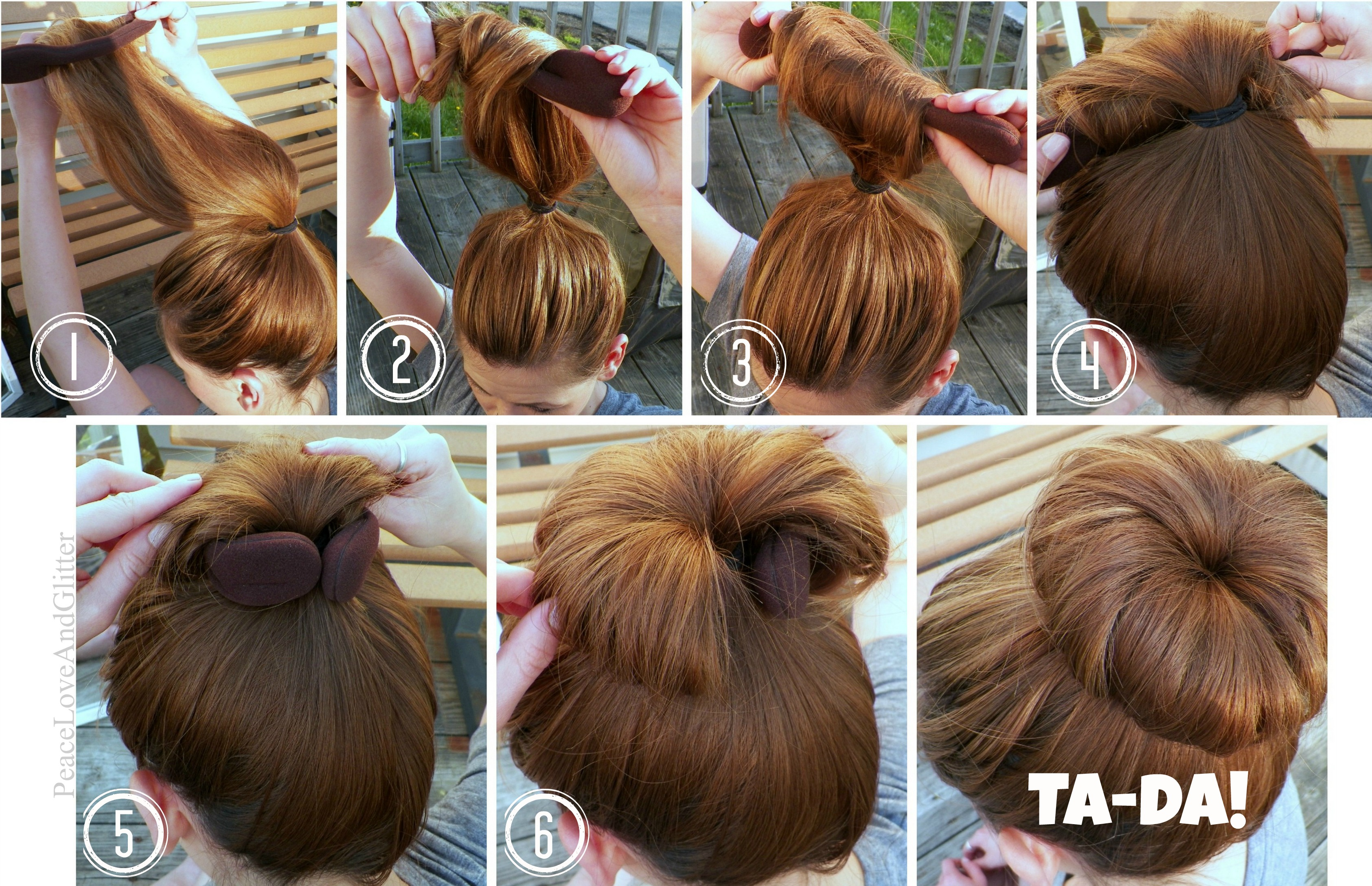 All other ways to do a sock bun will be variations of this. If you have shorter hair, or hair with lots of layers For hair that is shorter or has a lot of sort layers, begin with a smaller sock.