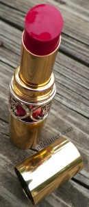 YSL Rouge Volupté Shine in Fuchsia in Excess 5 | Peace Love and Glitter